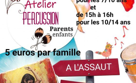 """Atelier percussion parents enfants par La Compagnie """"entre nous"""" le mercredi 18 …"""