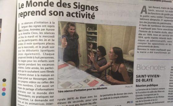 Nos dames de la langue des signes dans le journal et elles le meritent bravooooo…