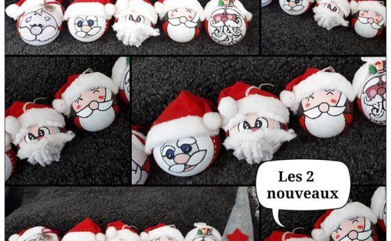 Et voici la petite famille Papa Noël tous differents