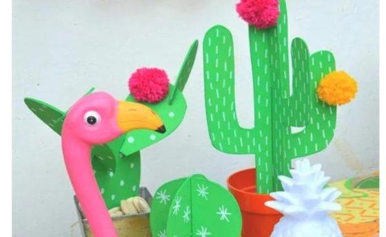 Fabrique ton cactus déco gabarits fournis
