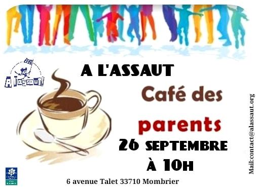 Café parents reprise le 26 septembre à 10h qui sera présent svp merci de nous di…