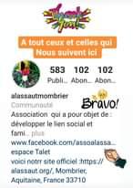 Merci à tout nos abonnés Instagram la barre des 100 est passé