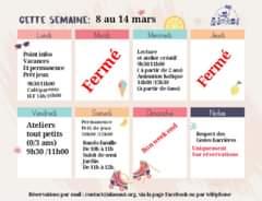 Planning du 8 au 14 mars À L'ASSAUT