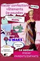 """Samedi 6 mars de 14h à 16h Noëlle propose un atelier couture """"confection vêtemen…"""